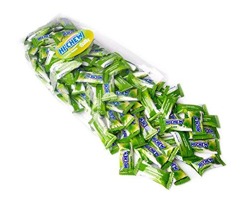 Hi Chew Candy - Bulk Flavored 25oz 130+ Individually Wrapped Morinaga Fruit Chews - Green Apple