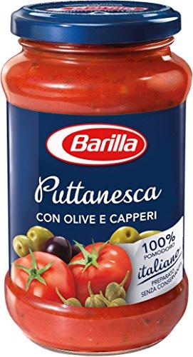 6x Barilla Puttanesca italiensauce tomatensauce mit Oliven und Kapern 400g Nudel