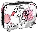 Vaultz Locking Everyday Makeup Case, Cosmetic Roses (VZ03811)