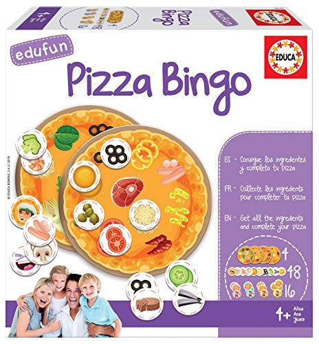 Educa- Pizza Bingo Juego de Cartas para Niños, Multicolor (18127)
