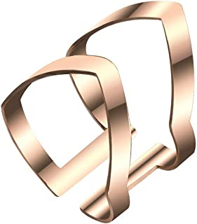 ZODRQ Ring,Fashion Openwork Double V-Shaped Joint Double Ring A Best Gift for Your Lover Family Friends and Colleagues