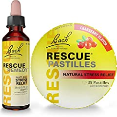 "Look for ""Ships from and sold by Amazon.com"" to ensure RESCUE USA product authenticity and valid expiration/use by dates Includes (1) Rescue Remedy Dropper 20mL plus (1) BONUS Rescue Pastilles tin, Natural Cranberry Flavor 1.7oz The original RESCUE R..."