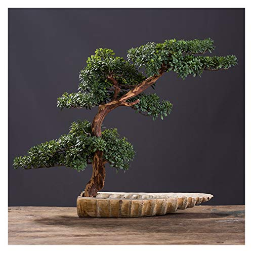 Planta artificial Simulación de estilo chino Potted Bonsai Bonsai Booning Pine Green Plants Decoración de la decoración cubierta de la sala de estar de la decoración de la decoración de la decoración