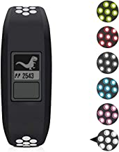 Sibode Replacement Bands Compatible with Garmin Vivofit 3/ Vivofit JR/JR. 2 Bracelet for Kids Women Man, Black White