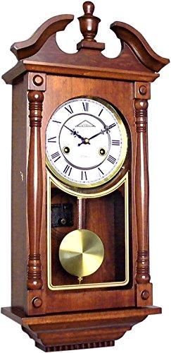 72037 Orologio a pendolo in legno da parete con movimento meccanico carica 31 giorni
