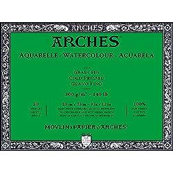 Arches Watercolor Paper Block, Cold Press, 9