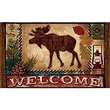 Vicky.Zheng Welcome Moose Doormat Custom Indoor/outdoor Bath and Home Decorative Doormat 23.6'(L) x 15.7'(W)