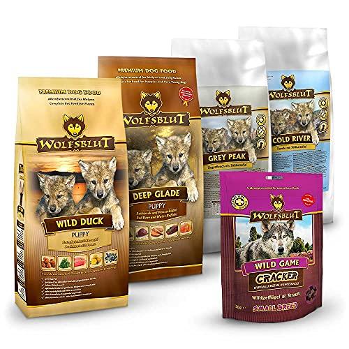 Wolfsblut | Welpen Probierpaket 4 x 500 g + 250 g | Trockenfutter | Hundefutter | Getreidefrei