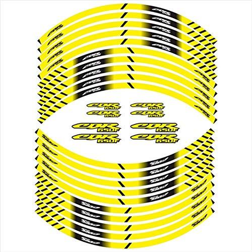 Mrjg Pegatinas de Llantas Pegatina de decoración de la Muestra del neumático de la Motocicleta Caliente calcomanías reflectivas de la llanta Interna for Honda CBR650F (Color : 03)