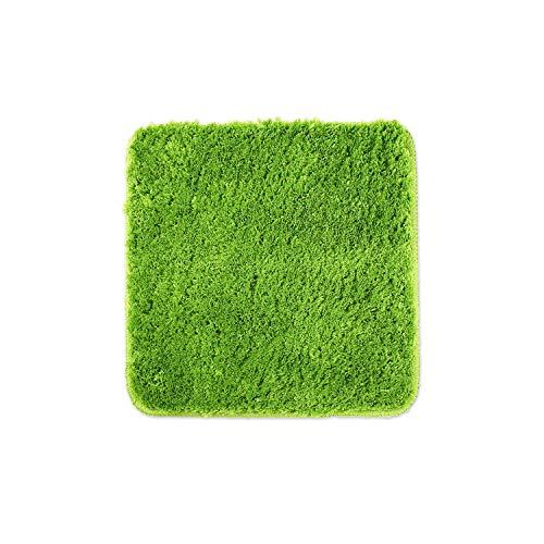 WohnDirect Badematten zum Set kombinierbar • Badvorleger 45x45 cm • Badteppich rutschfest & waschbar • Grün • OHNE WC Ausschnitt