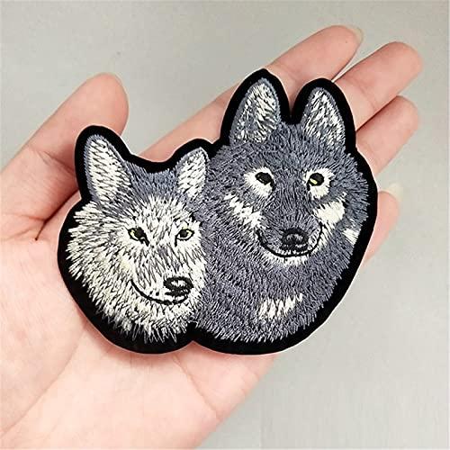 QNONAQ Animales Silvestres Parches Bordado para Ropa Plancha en Apliques Pegatinas Bordados Bordados Eagle Wolf Tiger Bear Patch para Jeans Calcomanías Decorativas (Color : 715)
