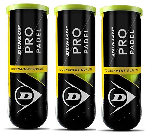 Dunlop Pro Pelota de pádel Amarillo pack