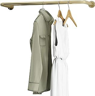 MissZZ Porte-vêtements Tuyau de Fer Industriel Vêtements Porte-vêtements Mural Tige de Placard Présentoir de Vente au déta...