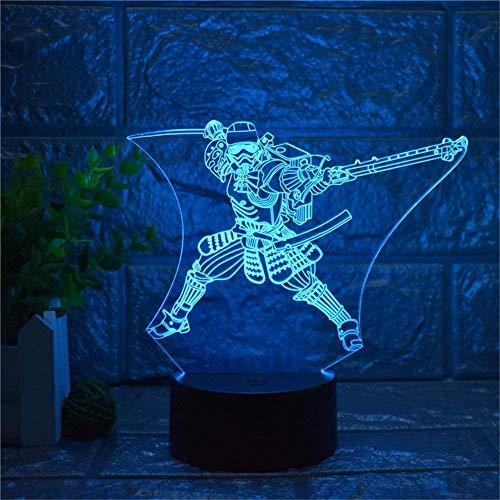 Lumière Ambiante, Star Wars Imperial Stormtrooper 3D Veilleuse LED USB Home Decor Lampe de Table Tactile Télécommande 16 Gradient Couleur Creative Bureau Décor Jouets pour Enfants Lumière d'ambiance
