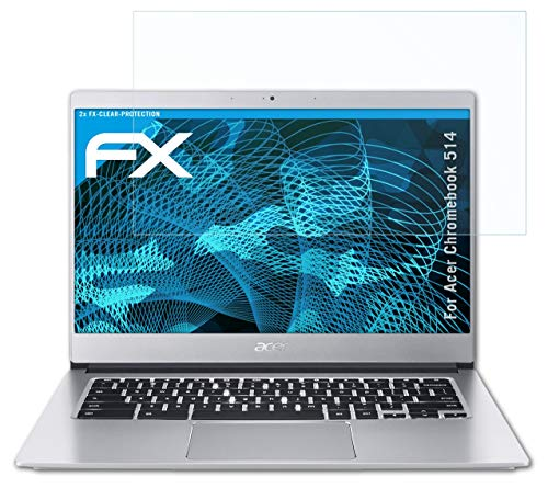atFolix Schutzfolie kompatibel mit Acer Chromebook 514 Folie, ultraklare FX Bildschirmschutzfolie (2X)