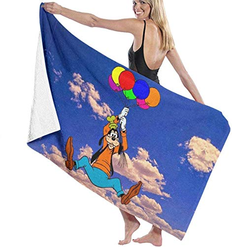YeeATZ Goofy Dog - Toallas de secado rápido y altamente absorbentes, multiusos, para la playa, la piscina, 31 x 51 pulgadas, para mujeres y hombres