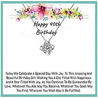 OnePurposegifts 40歳の誕生日ギフト 女性用 40歳の誕生日 ネックレス 40歳の誕生日 ギフト