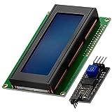 AZDelivery Modulo Pantalla LCD Display Azul HD44780 2004 con Interfaz I2C 20x4 caracteres compatible con Arduino con E-Book incluido!