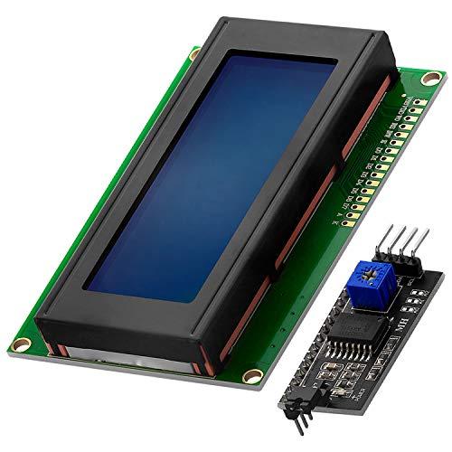 AZDelivery HD44780 2004 LCD Display Bundle Blau 4x20 Zeichen mit I2C Schnittstelle kompatibel mit Arduino inklusive E-Book!