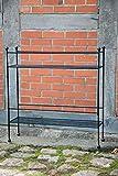 KUHEIGA Blumenbank in schwarz H: 81cm Standregal Eisenregal Blumenständer Blumentreppe