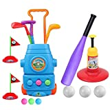 HanShe Golf Toy,Baseball Toy,Kids Golf Set with 6 Balls,Baseball Set with 3 Balls,Golf for Kids,Baseball Toddler,Toddler Golf Set,Kids Golf,Kids Baseball,Outdoor Toy,Birthday Gift