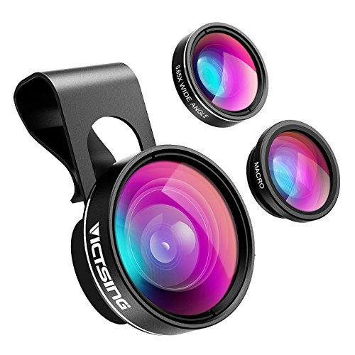 Clip on Cell Phone Lens - 3 in 1 Camea Lens Kit