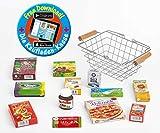 Polly Kaufladen Zubehör Set Metalleinkaufskorb gefüllt mit Miniaturen | Kinder Spielzeug für den Kaufmannsladen | Kinderkaufladen