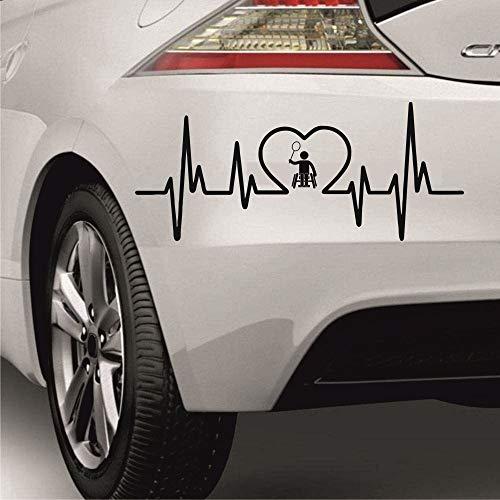 myrockshirt Pegatina con latido del corazón para conductores de sillas de ruedas, Paralímpicos, bádminton de 50 cm, de calidad profesional