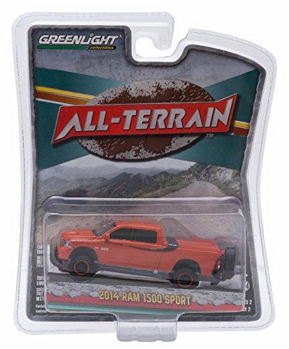 Greenlight 1:64 All Terrain Series 2 - 2014 Dodge Ram 1500 Sport Orange Pickup Truck