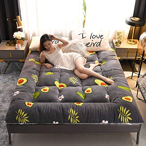 Futon Mattress Wool Wrap, Soft Tatami Futon Floor Mat Foldable Cushion Mats Yoga Meditation Mats Breathable Comfortable Sleeping Pad-135x200cm(53x79inch)-C