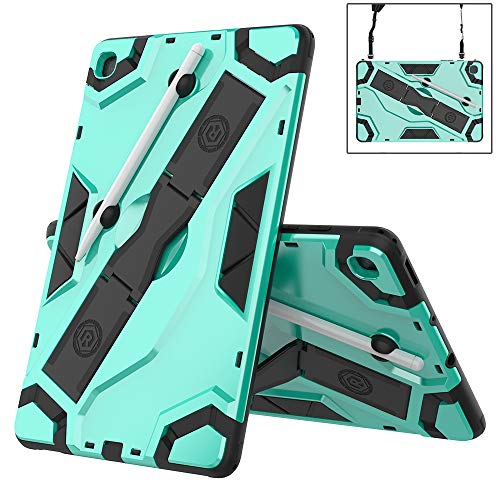 TianTa Lenovo Tab P10 Case, Hybrid Heavy Duty Defender Shockproof High Impact Protective with Kickstand for Lenovo Tablet 2018 Tab P10 10.1' inch (TB-X705F /TB-X705L) - Green
