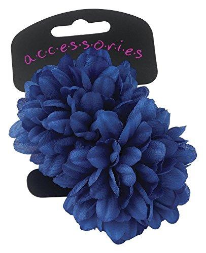 Chocolate Pickle® Nouveau Femmes Deux pièces Élastique Fleur Ponio Cheveux Set Royal Blue