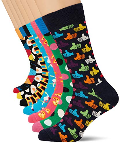 Happy Socks Herren 7-day Gift Box Socken, Mehrfarbig (Multicolour 010), 7/10 (Herstellergröße: 41-46)