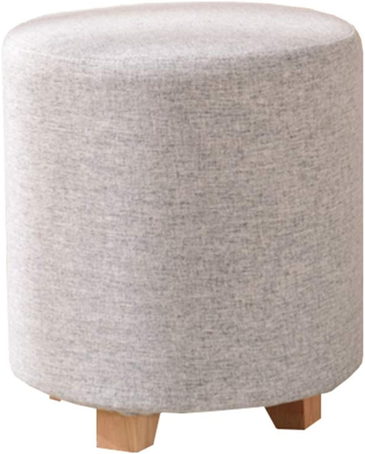 Footstool Low Stool Round Stool, Living Room Bedroom Multifunctional Storage Footstool (color   F, Size   35  45CM)
