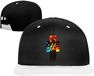 BFBJFG Preston Fire Nation Playz Gamer Flame Baseball Cap Classic Fashion Contrast Hip Hop Baseball Hats for Women Men