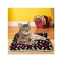 犬猫ペット冬暖かいマット毛皮のベッドパッド熱敷物熱洗える枕マット、C、L