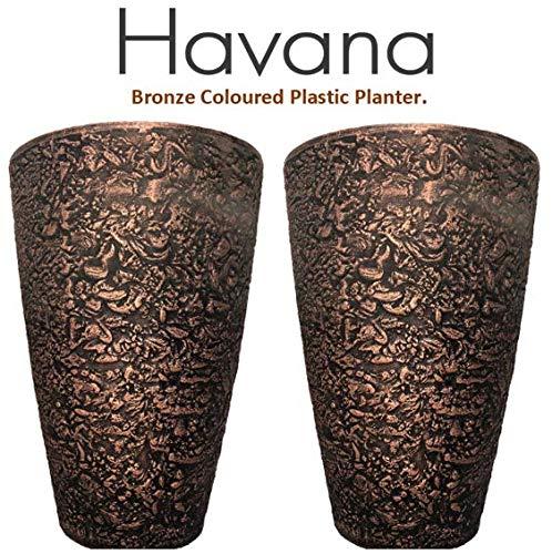 Havana Bronze Planter Outdoor & Indoor Use (1 Planter)