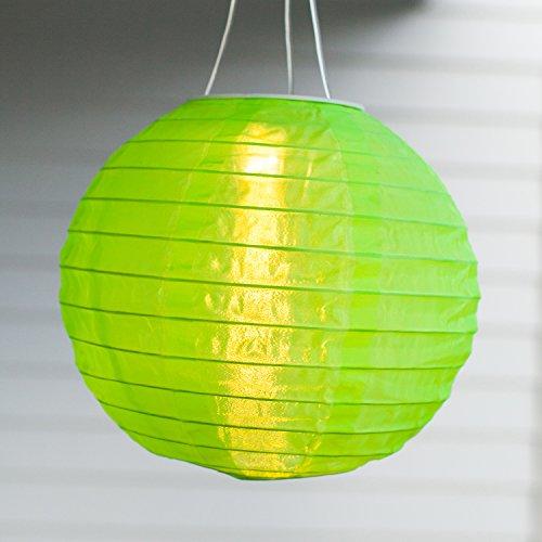 LED Solar Lampion Garten Deko grün Lights4fun