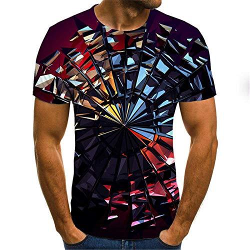 JFHGNJ Magliette psichedeliche Divertenti 3D Hipster Casual Manica Corta Estate Harajuku Casual Tee Uomo Donna Streetwear Maglietta Stampata divertente-T13_XXS_0