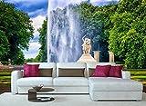MUNXIN Wallpaper Papel Pintado 3D Fuente De Esculturas En El Bosque Resort Papel Pintado Pared Moderno Dormitorio Fotomurales Decorativos Pared