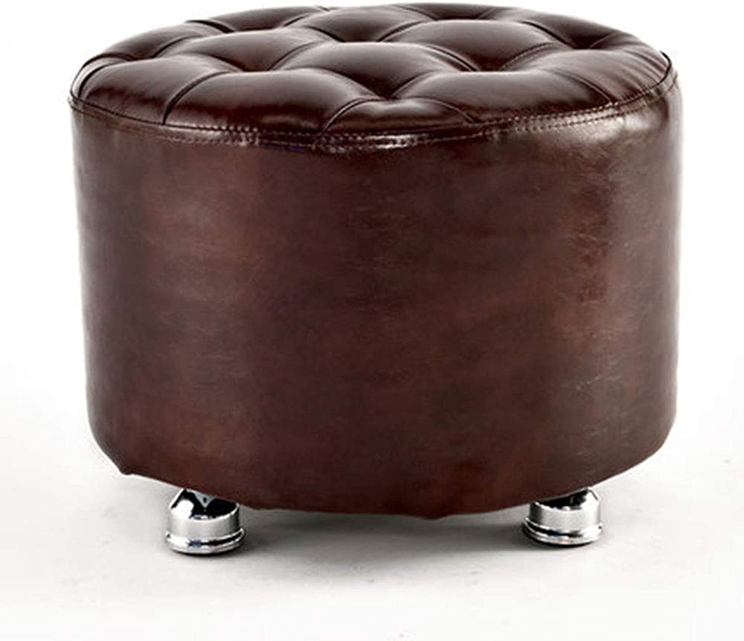 LJFYXZ Solid color Stool Fashion Seat Solid Wood Frame 40x30cm (color   Dark Brown)