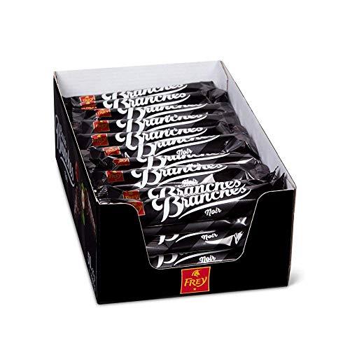 Frey Branches Classic Schokoriegel Noir 50er-Pack, 1.34 kg - Dunkle Schokoladen-Riegel mit Haselnusscremefüllung - UTZ-zertifizierte Schweizer Schokolade - Großpackung 50 Stück à 27g, einzeln verpackt