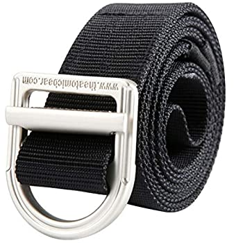 Atomic Bear Tactical Belt- EDC Hiking Military Heavy Nylon with Indestructible Metal Buckle