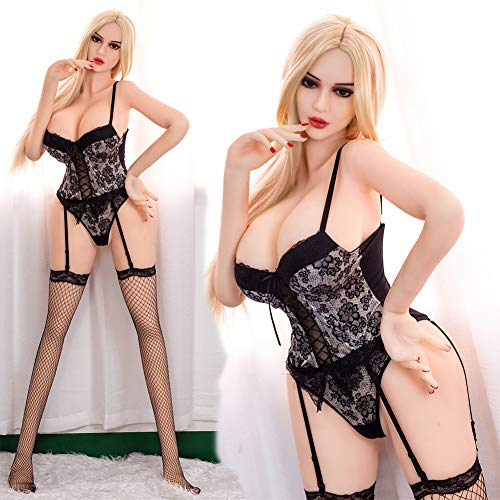 Metermall Good for Big-breasted Silicone Sex Doll Big Booty Sex Toy Housewife Tpe Love Doll 165cm