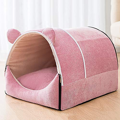 GCP Detachable Dog Cave Bed,Semi-Enclosed 2 in 1 Multi-Purpose Warm Pet Tent Bed Machine Washable Pet Sleeping Nest
