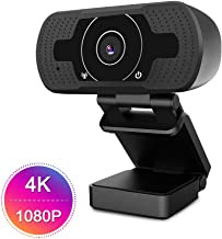 HD Pro Webcam 4K/1080P, Akyta 8MP PC Laptop Computer Camera USB Webcam with Microphone, Auto Focus Web Camera for Video Conference OBS Twitch YouTube XBOX ONE Game Streaming TV Skype (4K webcam)