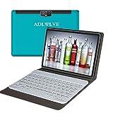 4G Tablette Tactile 10 Pouces avec Clavier FHD 4Go RAM 64Go/128Go ROM Android 9.0 Certifié par Google GMS Tablet PC Quad Core 8000mAh Dual SIM 8MP, WiFi |Bluetooth | GPS | OTG Netfilx(Bleu)