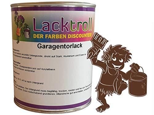 Garagentorlack Nussbraun RAL 8011 Glänzend 750 ml
