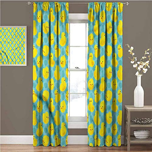 Great Features Of June Gissing Duckies Window Darkening Curtains Kids Babies Bathroom Toys Curtain...