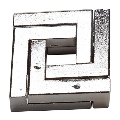 YINLANG Ring, Alloy Square Lock Puzzle Spielzeug Kinder Erwachsene IQ Mind Brain Teaser Box Intelligentes Spielzeug